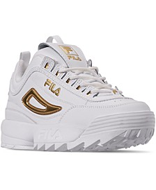 Women's Disruptor II Metallic Casual Athletic Sneakers from Finish Line