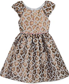 Rare Editions Little Girls Animal-Print Fit & Flare Dress