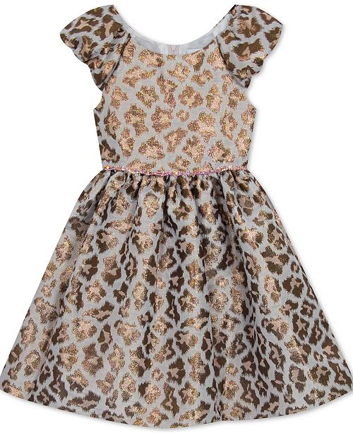 Rare Editions Toddler Girls Animal-Print Fit & Flare Dress