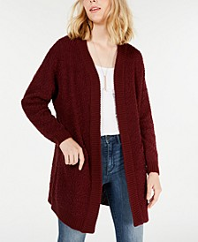 Juniors' Open-Front Textured Cardigan
