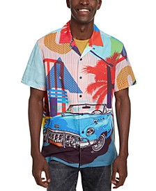 Men's Miami Scene Print Shirt