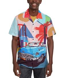 Desigual Men's Miami Scene Print Shirt
