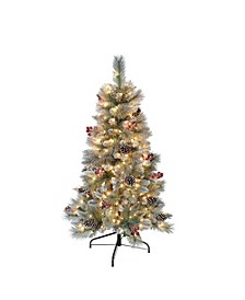 International 4.5 ft. Pre-Lit Sterling Pine Artificial Christmas Tree with 250 UL-Listed Clear Lights