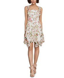 BCBGMAXAZRIA Open-Back Floral-Lace Dress