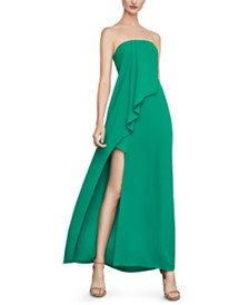 BCBGMAXAZRIA Strapless Draped Gown