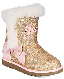 Little & Big Girls Rose Gold Glitter Boots