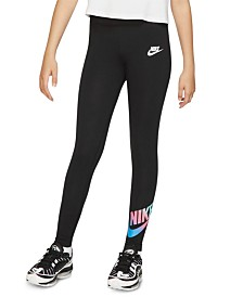 Nike Big Girls Logo-Print Leggings