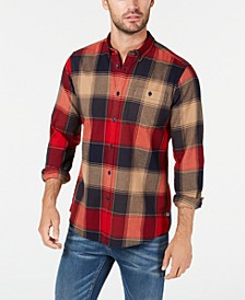 International Steve McQueen Men's Joseph Pocket Plaid Shirt, Created For Macy's