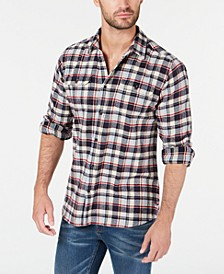 International Steve McQueen Men's Rick Herringbone Plaid Shirt, Created For Macy's
