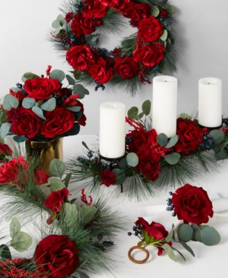 Rose & Pine Napkin Rings, Set of 2, Created for Macy's