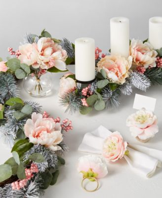 Royal Blush Napkin Rings, Set of 4, Created for Macy's