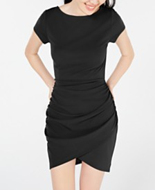 Planet Gold Juniors' Gathered Bodycon Dress
