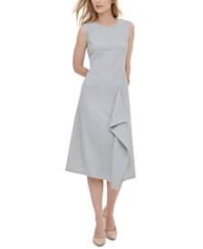 Calvin Klein Striped Asymmetrical Dress
