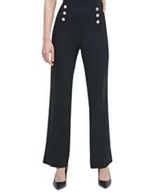 Calvin Klein Wide-Leg Sailor Pants