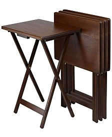 Winsome Wood Alex Set of 4 Single Snack Tables