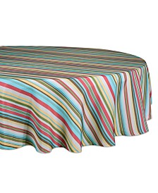 "Summer Stripe Outdoor Tablecloth with Zipper 60"" Round"
