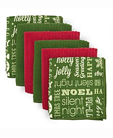 Dishcloth Microfiber Holiday Greetings, Set of 6