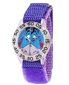 EwatchFactory Boy's Disney All About Me Portfolio Eeyore Purple Plastic Time Teacher Strap Watch 32mm