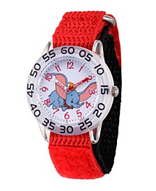 Girl's Disney Dumbo Red Plastic Time Teacher Strap Watch 32mm