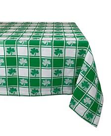 "Shamrock Woven Check Tablecloth 60"" x 84"""