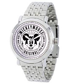 EwatchFactory Men's Disney Mickey Mouse Silver Bracelet Watch 44mm
