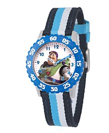 EwatchFactory Boy's Disney Toy Story 4 Buzz Lighter Multi Stainless Steel Time Teacher Strap Watch 32mm
