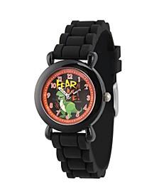 Boy's Disney Toy Story 4 Rex Black Plastic Time Teacher Strap Watch 32mm