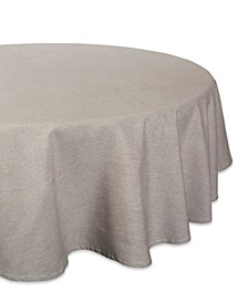 """Solid Chambray Tablecloth 70"""" Round"""