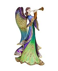 DecoFlair Peacock Angel Candle
