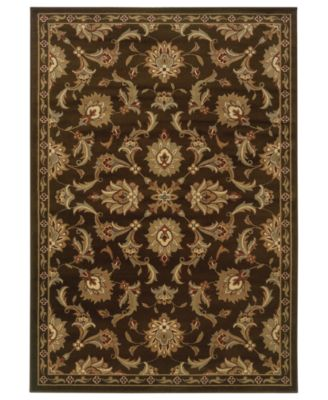 "CLOSEOUT! Area Rug, Pember 1330N Meshed Brown 1'10"" x 7'3"" Runner Rug"