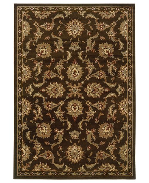 "Oriental Weavers CLOSEOUT! Area Rug, Pember 1330N Meshed Brown 5'3"" x 7'3"""