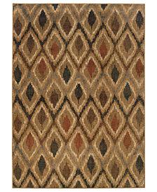 """Oriental Weavers Area Rug, Kasbah 3942A Flame 1'10"""" x 3'3"""""""