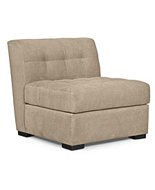 "CLOSEOUT! Roxanne 33"" Fabric Armless Living Room Chair, Created for Macy's"