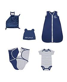 Baby Unisex Essentials Gift Set, 6-Piece