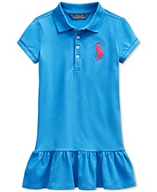 Little Girls Stretch Mesh Dress