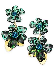Kate Spade New York Gold-Tone Pavé Flower Statement Earrings
