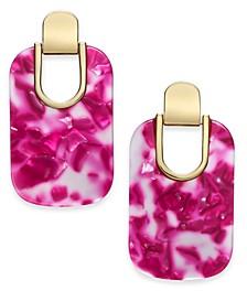 Gold-Tone Artistic Drop Earrings