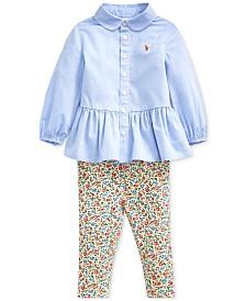 Polo Ralph Lauren Baby Girls Shirt & Leggings