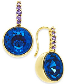 Gold-Tone Crystal Drop Earrings