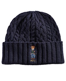 Aran-Knit St. Andrew Polo Bear Hat