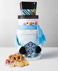 Gigantic Sweets & Savory Snowman Tower