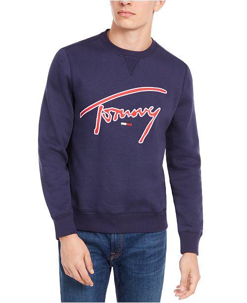 Tommy Hilfiger Men's Colorblock Signature Logo Graphic Sweatshirt