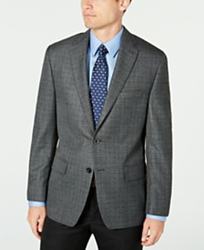 Michael Kors Men's Classic-Fit Black/White Check Sport Coat