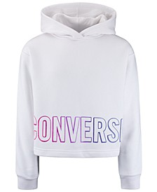 Big Girls Cropped Gradient-Logo Hoodie