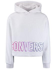 Converse Big Girls Cropped Gradient-Logo Hoodie