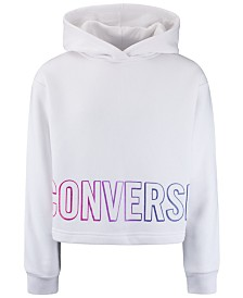 Converse Big Girls Cropped Gradient-Logo Hoodie