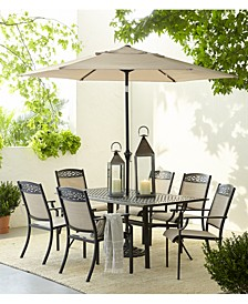 "Outdoor Cast Aluminum 68"" X 39"" Dining Table, Created For Macy's"