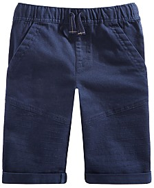 Epic Threads Little Boys Stretch Twill Drawstring Moto Shorts, Created for Macy's