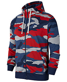 Nike Men's Sportswear Club Fleece Camo Zip Hoodie