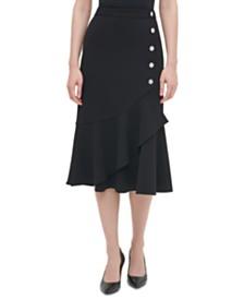 Calvin Klein Flared Midi Skirt